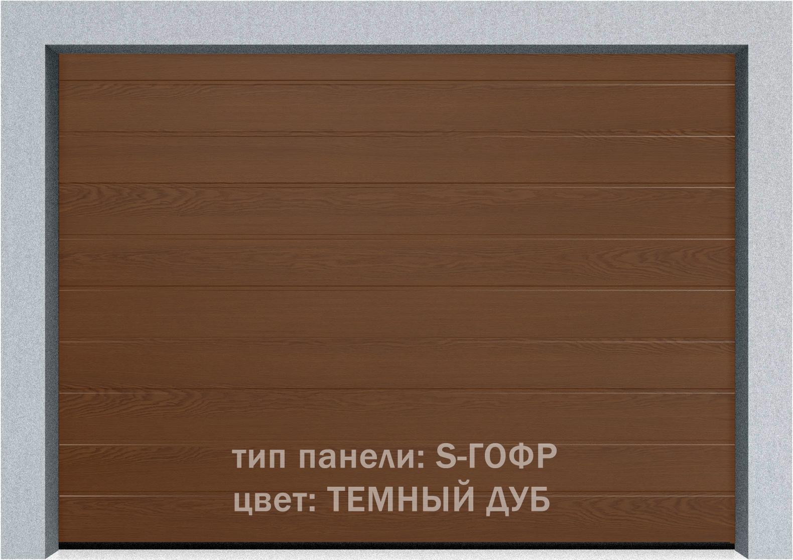 Секционные гаражные ворота Alutech Prestige 6000х3250 S-гофр, M-гофр, L-гофр цвета под дерево, торсионные пружины, фото 5
