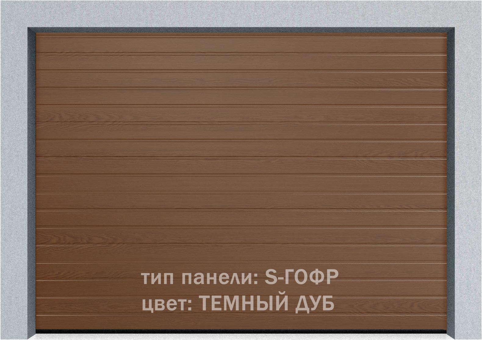 Секционные гаражные ворота Alutech Prestige 6000х3250 S-гофр, M-гофр, L-гофр цвета под дерево, торсионные пружины, фото 2