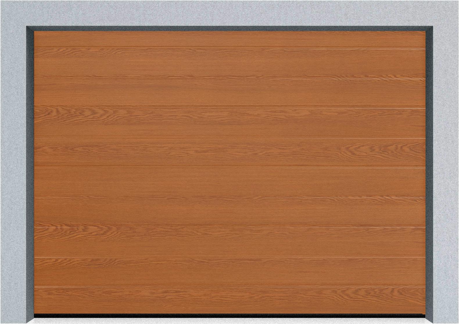 Секционные гаражные ворота Alutech Prestige 6000х3250 S-гофр, M-гофр, L-гофр цвета под дерево, торсионные пружины, фото 4