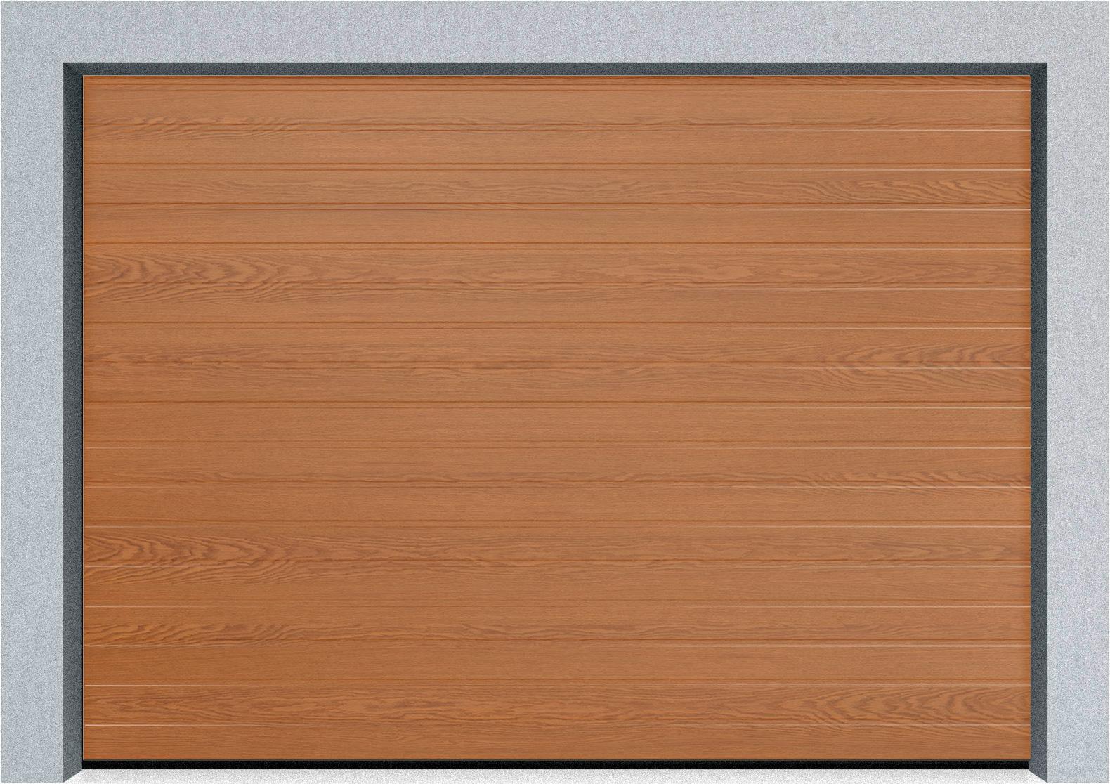Секционные гаражные ворота Alutech Prestige 6000х3250 S-гофр, M-гофр, L-гофр цвета под дерево, торсионные пружины, фото 1