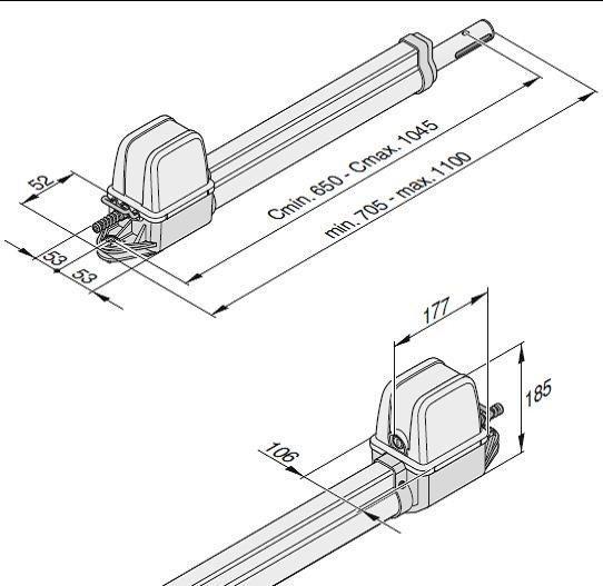 Комплект автоматики для распашных ворот SOMMER twist 200E, фото 2