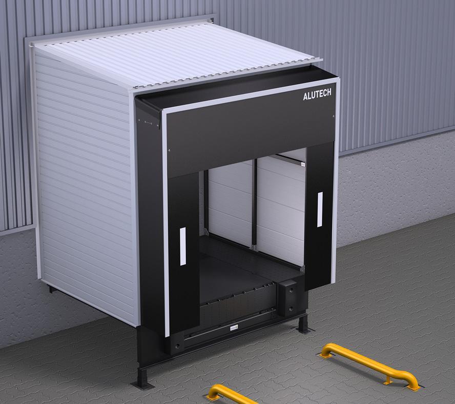 Тамбур перегрузочный Alutech DH косой 120 гр. для платформы L=2500, фото 1