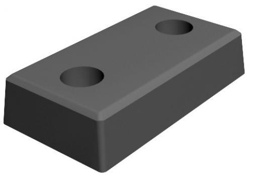 Бампер резиновый Alutech 500х250х100, фото 1