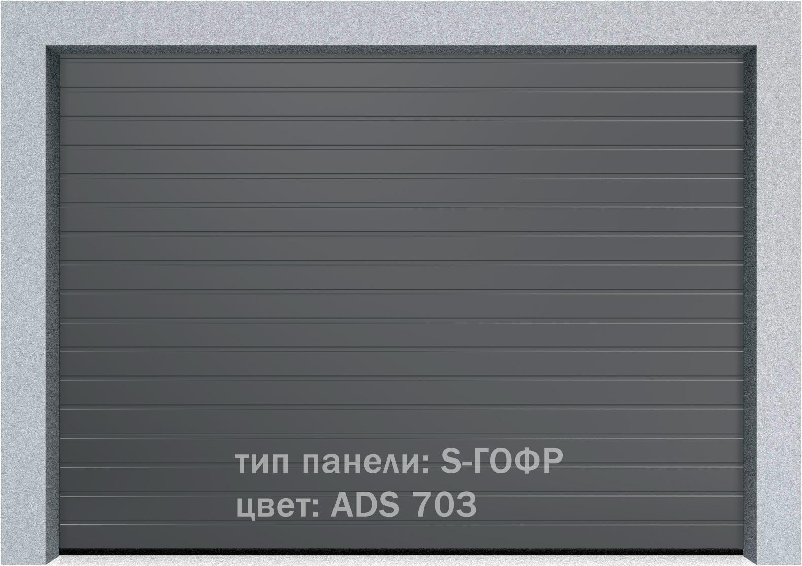 Секционные промышленные ворота Alutech ProTrend 2500х2000 S-гофр, Микроволна стандартные цвета, фото 10