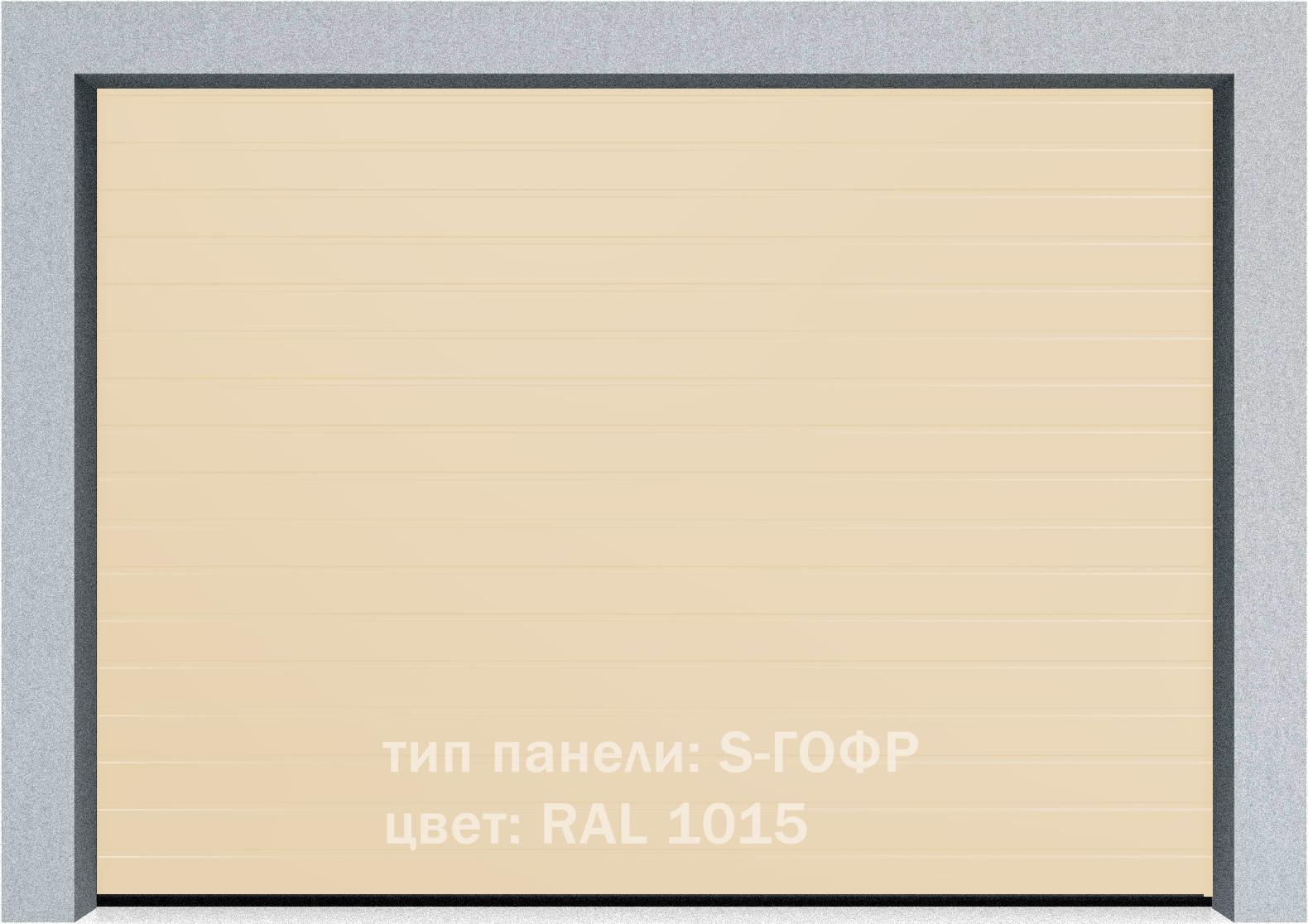 Секционные промышленные ворота Alutech ProTrend 2500х2000 S-гофр, Микроволна стандартные цвета, фото 4