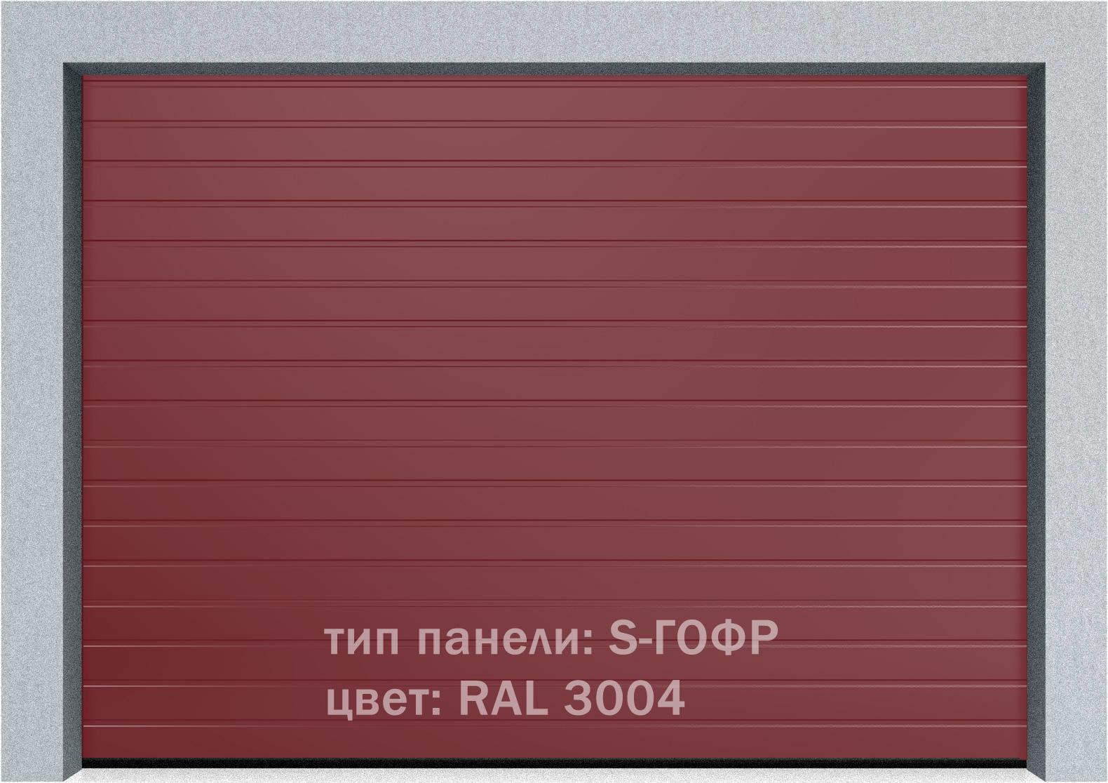 Секционные промышленные ворота Alutech ProTrend 2500х2000 S-гофр, Микроволна стандартные цвета, фото 5