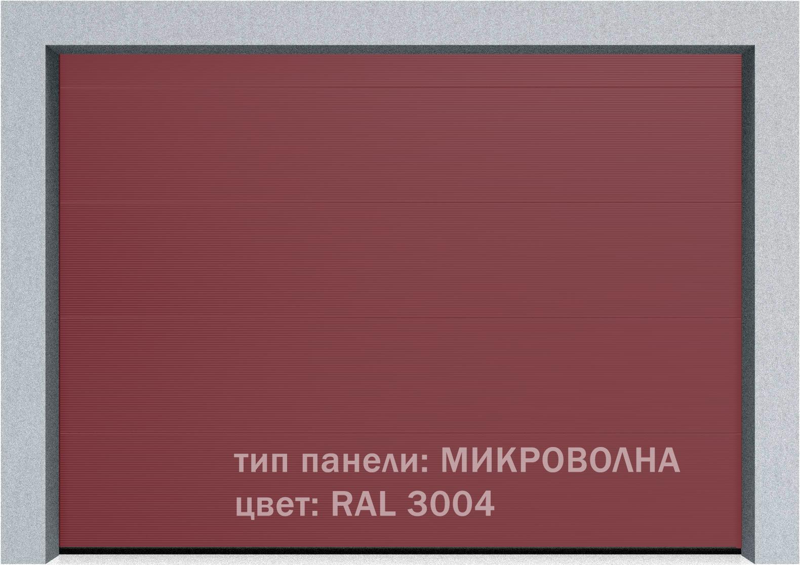 Секционные промышленные ворота Alutech ProTrend 2500х2000 S-гофр, Микроволна стандартные цвета, фото 15