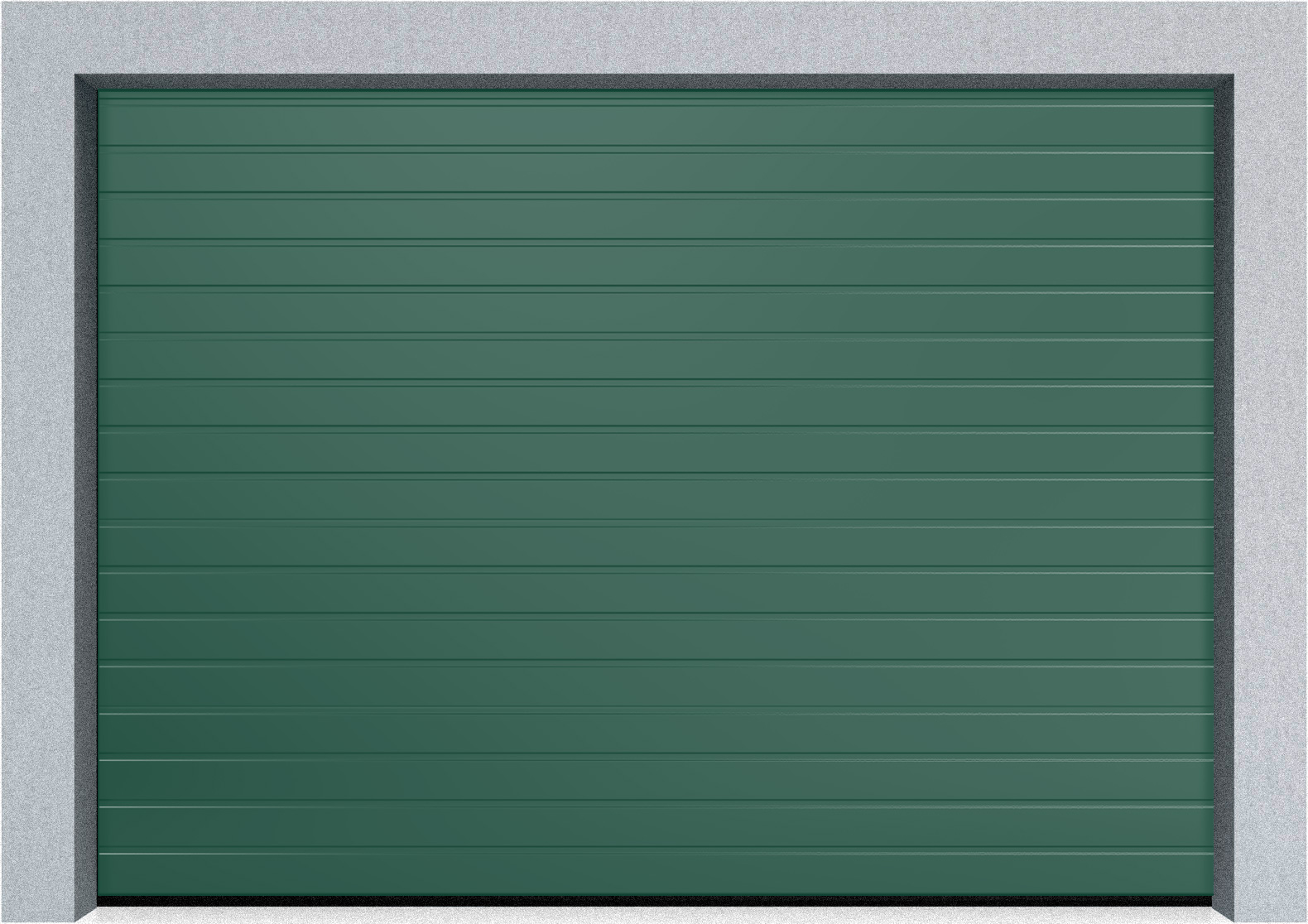 Автоматические секционные промышленные ворота Hormann SPU F42 1500х1875 S-гофр, Микроволна стандартные цвета, фото 3