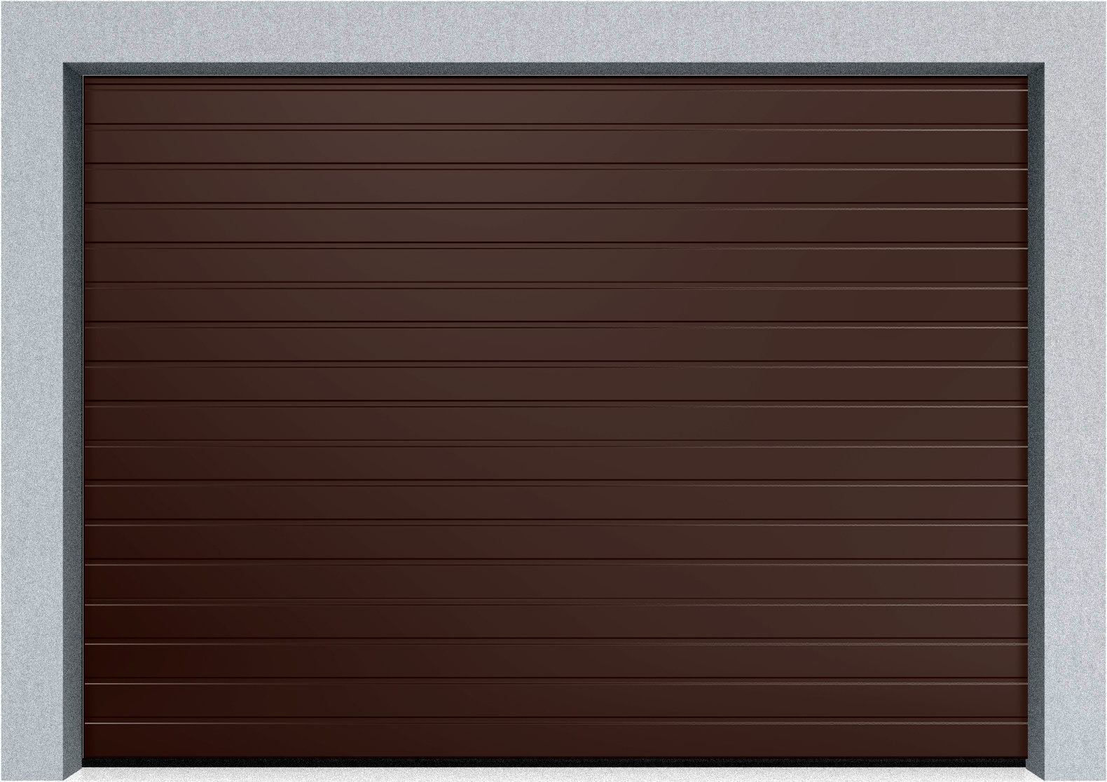 Секционные промышленные ворота Alutech ProTrend 1750х2500 S-гофр, Микроволна стандартные цвета, фото 3