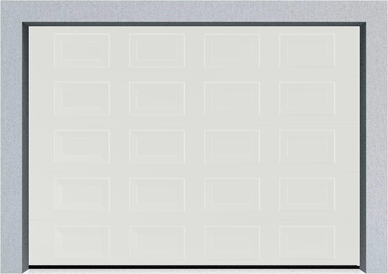 Секционные гаражные ворота DoorHan RSD01 3500x2000 Филенка стандартные цвета, пружины растяжения, фото 1