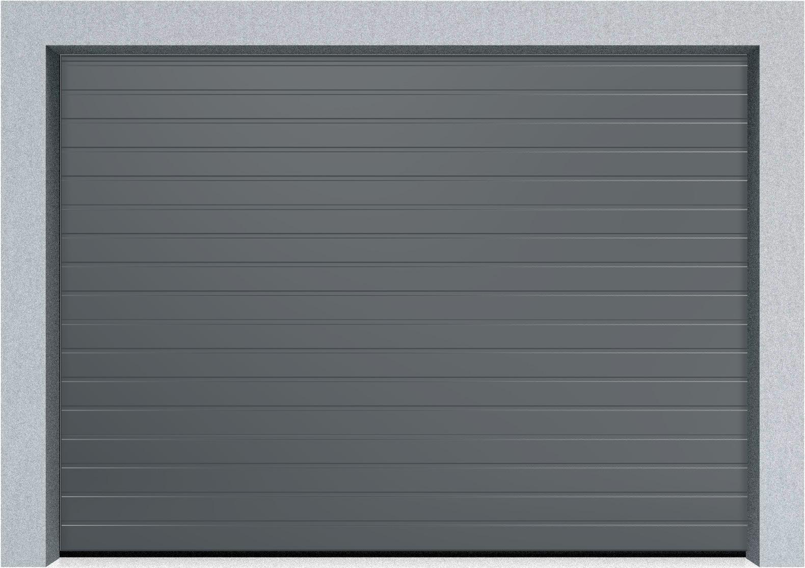 Секционные гаражные ворота Alutech Trend 1875x2250 S-гофр, Микроволна стандартные цвета, пружины растяжения, фото 9