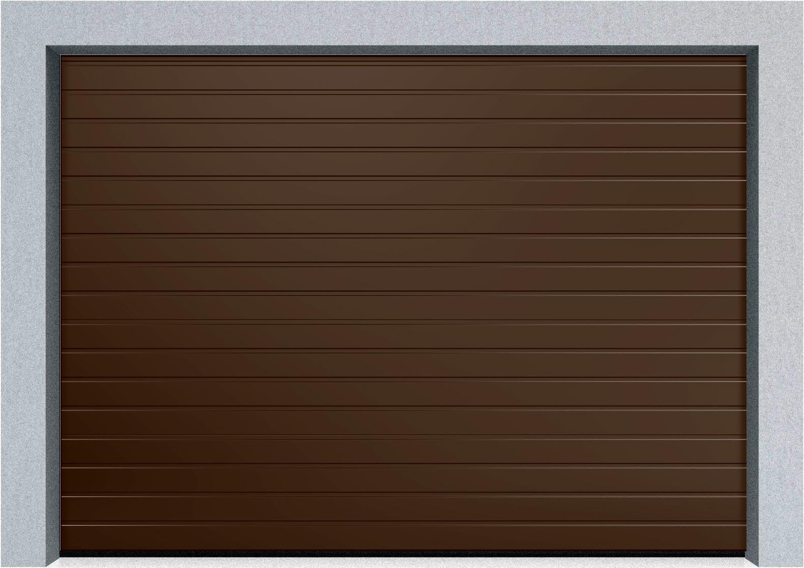 Секционные гаражные ворота Alutech Trend 1875x2250 S-гофр, Микроволна стандартные цвета, пружины растяжения, фото 2