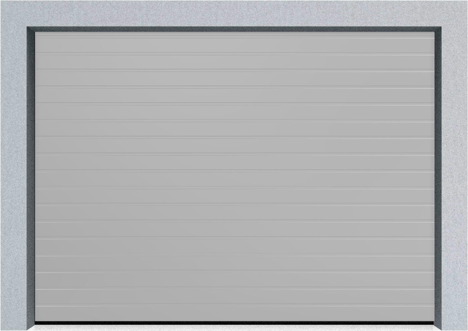 Секционные гаражные ворота Alutech Trend 1875x2250 S-гофр, Микроволна стандартные цвета, пружины растяжения, фото 8