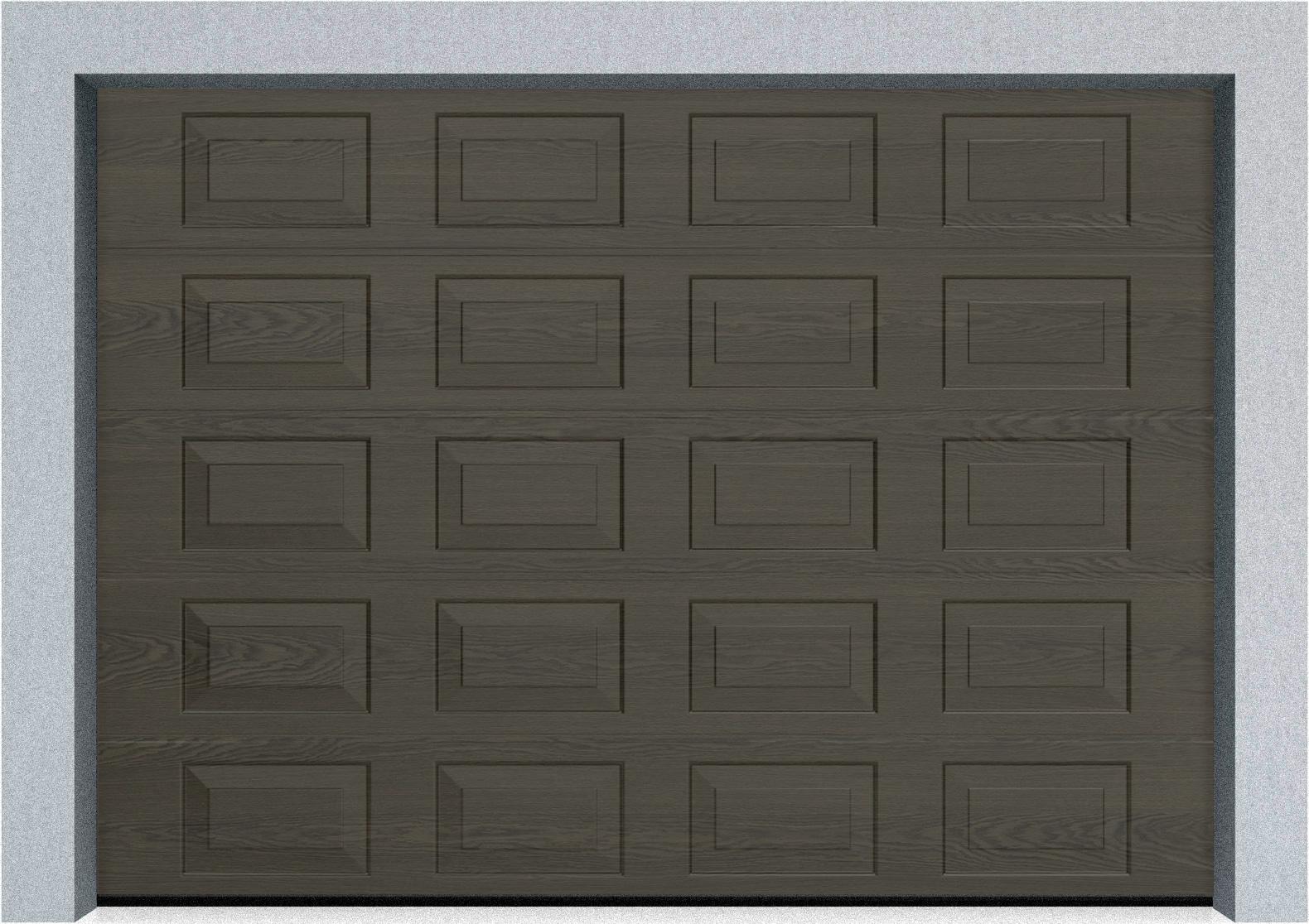 Секционные гаражные ворота DoorHan RSD01 2900x1900 Филенка цвета под дерево, пружины растяжения, фото 2