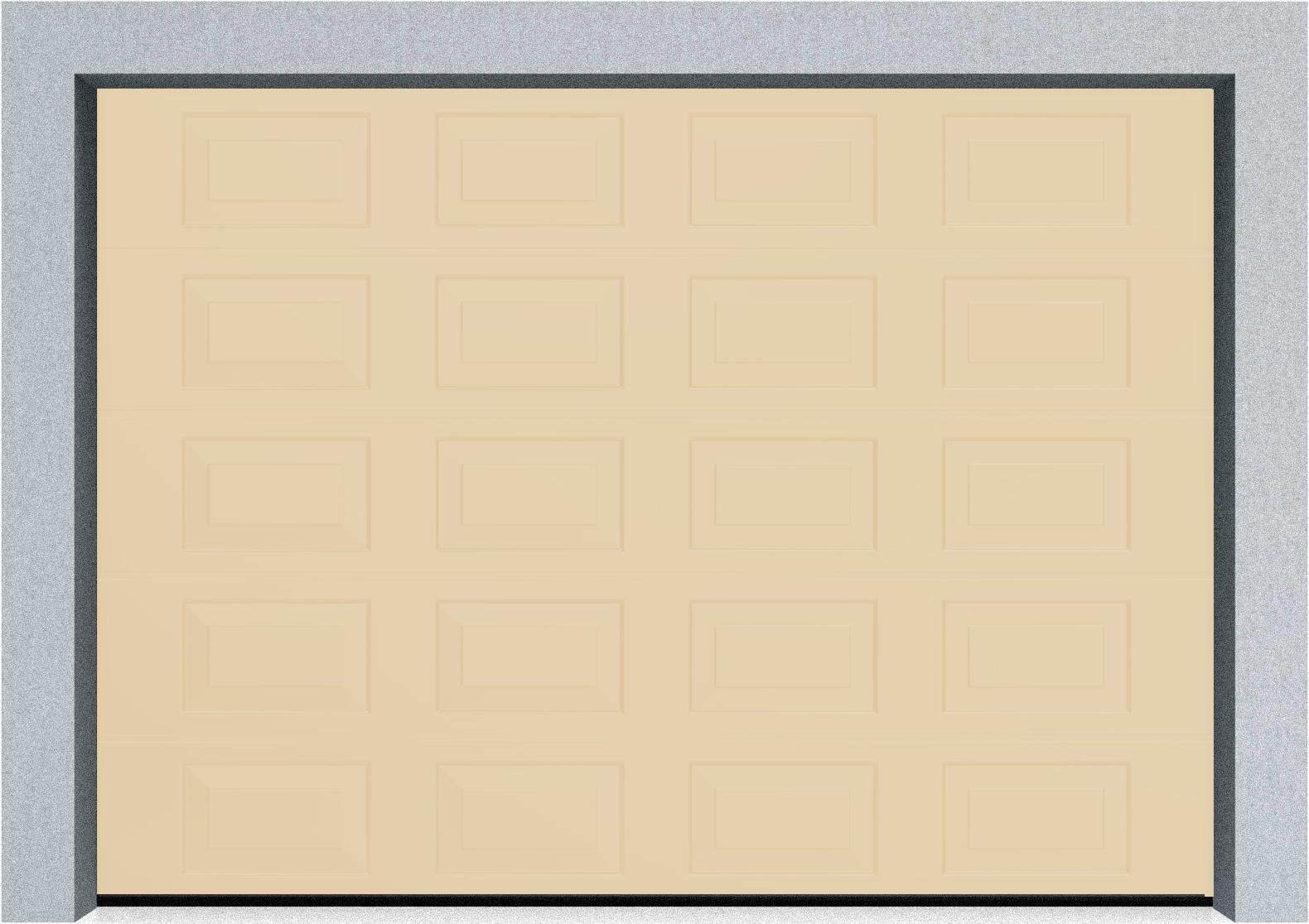 Секционные гаражные ворота DoorHan RSD01 3500x2000 Филенка стандартные цвета, пружины растяжения, фото 6
