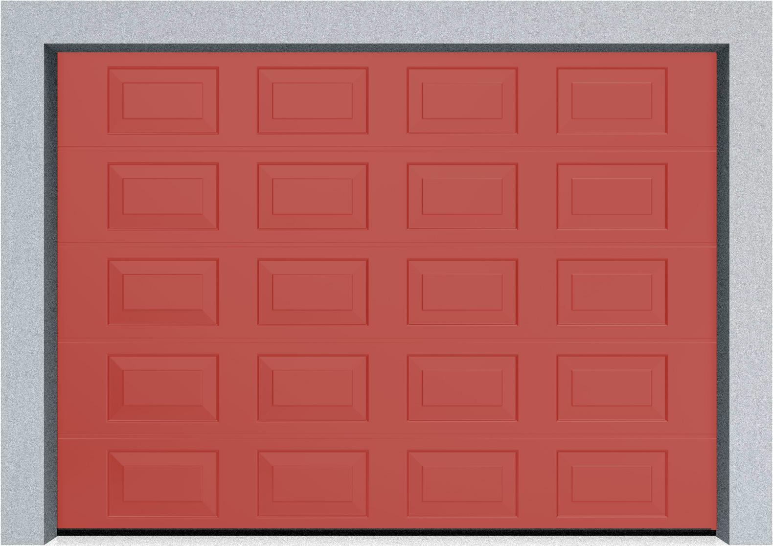 Секционные гаражные ворота DoorHan RSD01 3500x2000 Филенка стандартные цвета, пружины растяжения, фото 10