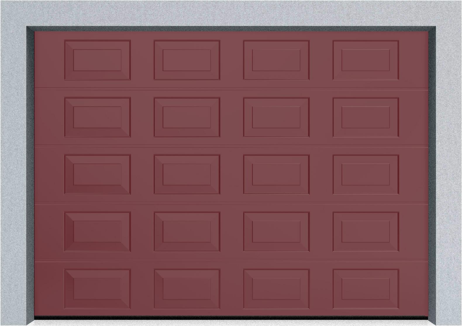 Секционные гаражные ворота DoorHan RSD01 3500x2000 Филенка стандартные цвета, пружины растяжения, фото 11
