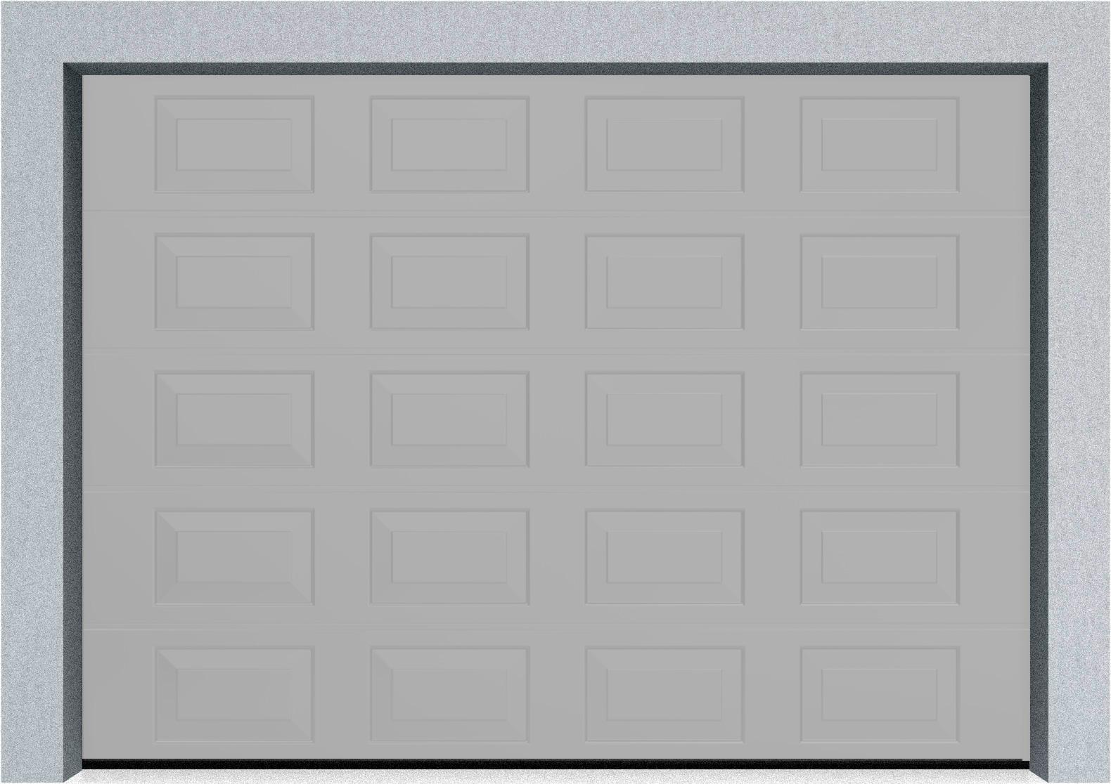 Секционные гаражные ворота DoorHan RSD01 3500x2000 Филенка стандартные цвета, пружины растяжения, фото 5