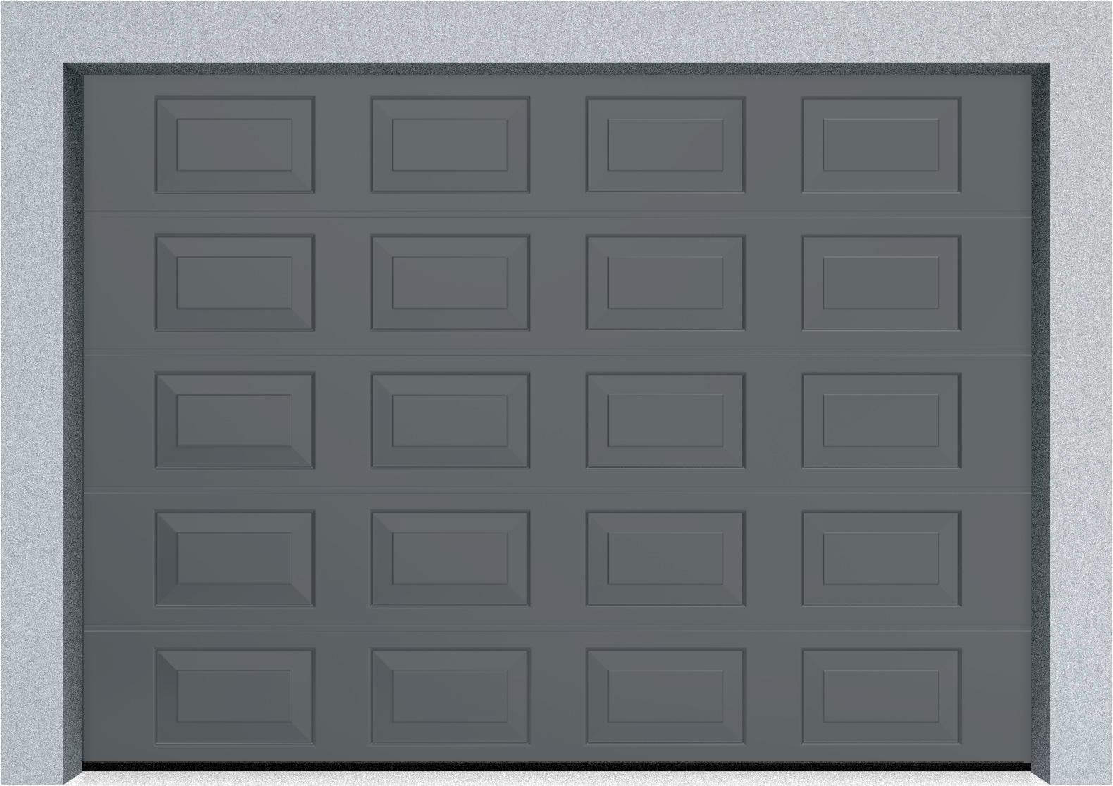 Секционные гаражные ворота DoorHan RSD01 3500x2000 Филенка стандартные цвета, пружины растяжения, фото 9