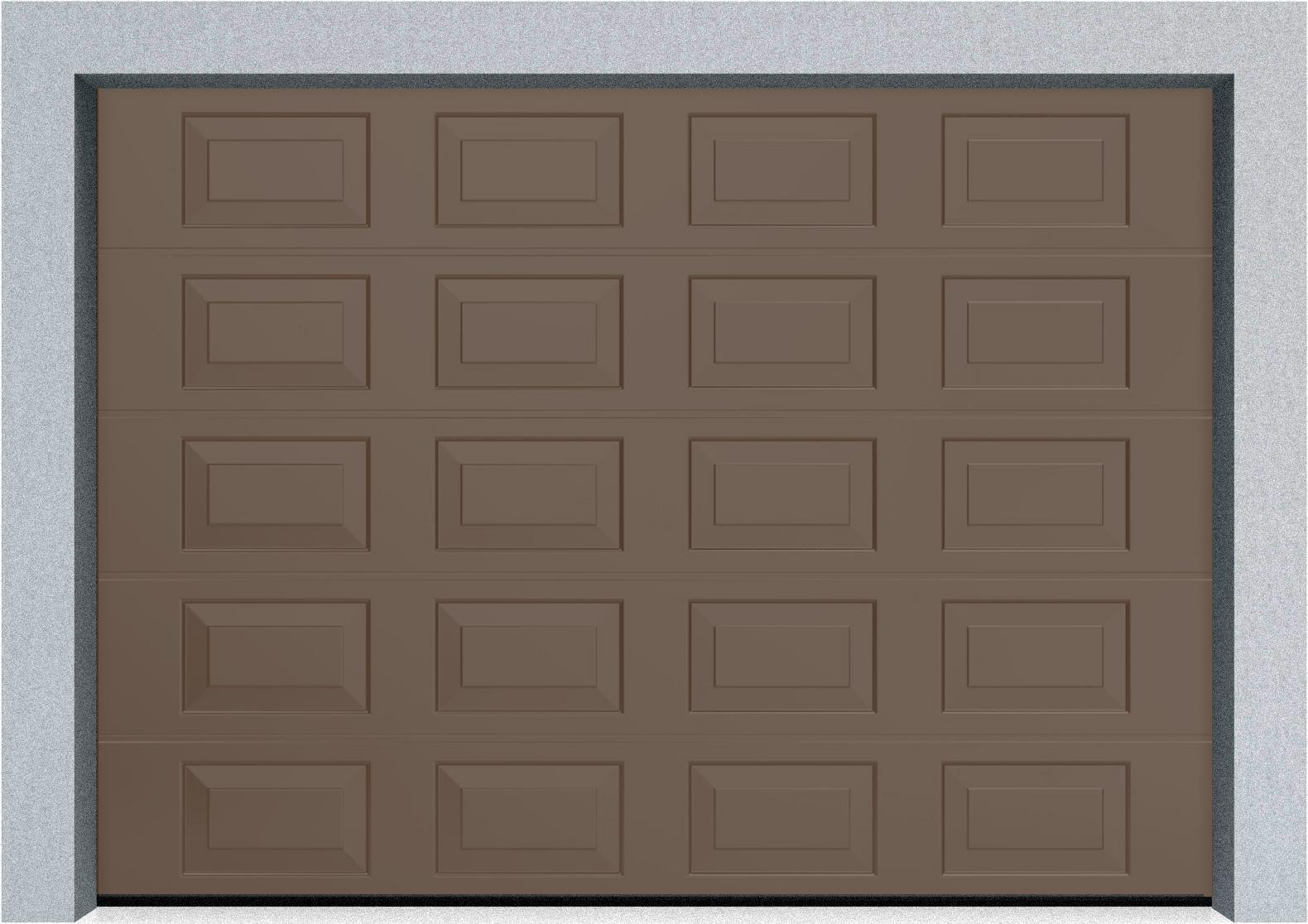 Секционные гаражные ворота DoorHan RSD01 3500x2000 Филенка стандартные цвета, пружины растяжения, фото 2