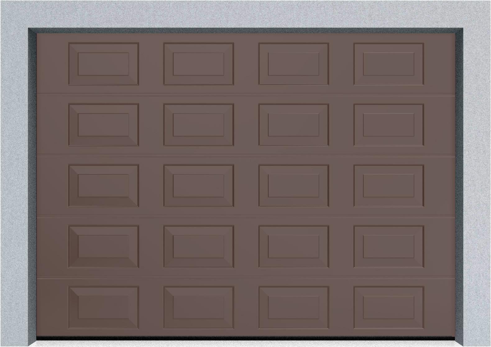 Секционные гаражные ворота DoorHan RSD01 3500x2000 Филенка стандартные цвета, пружины растяжения, фото 3