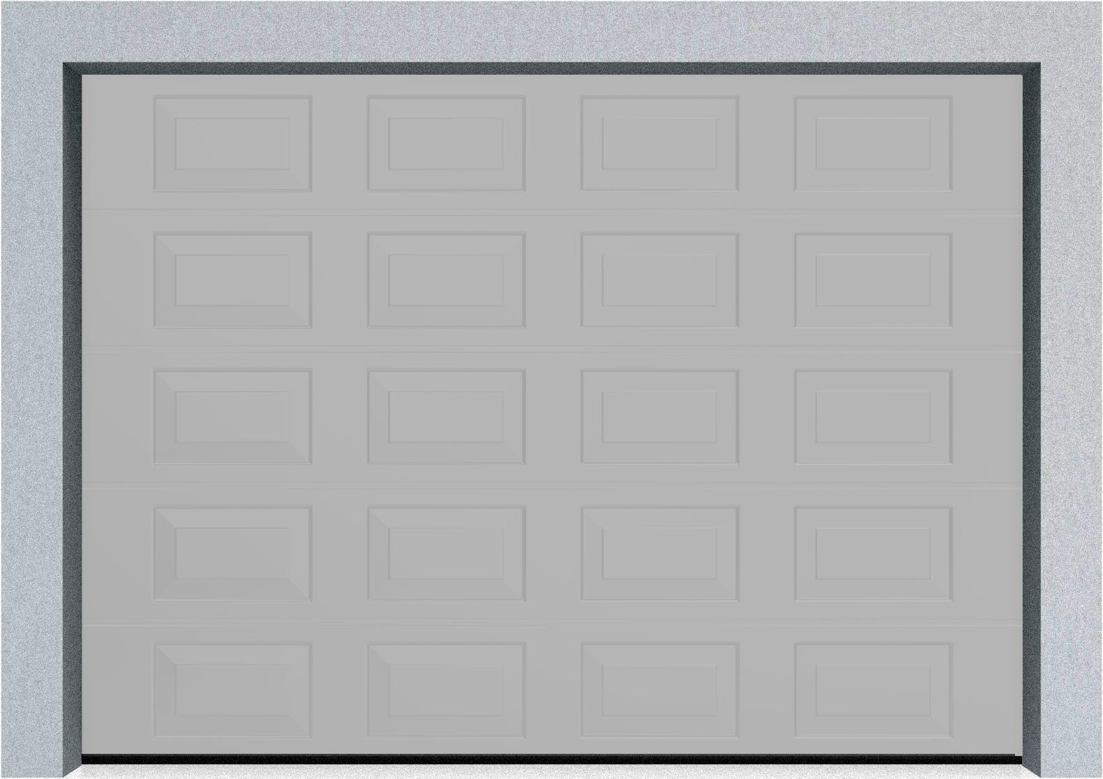 Секционные гаражные ворота DoorHan RSD01 3500x2000 Филенка стандартные цвета, пружины растяжения, фото 4